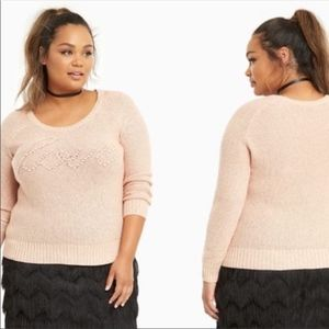 LOVE torrid sweater Champagne colored